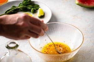 Melonen Feta Salat Schritt 2